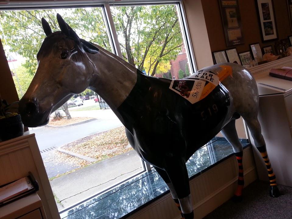 Drunk attacks Saratoga Horse Statue