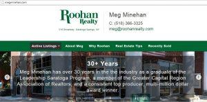 Megminehan.com screenshot