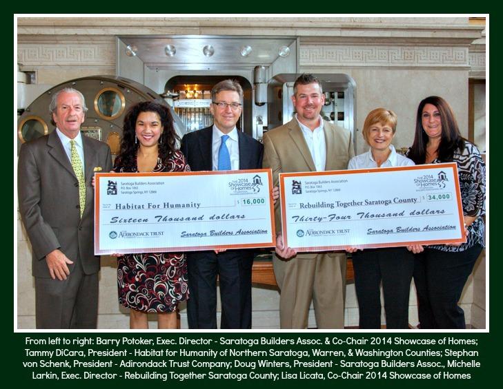 Saratoga Builders Dontate $50,000 to Habitat for Humanity and Rebuilding Saratoga