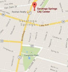 Saratoga City Center map