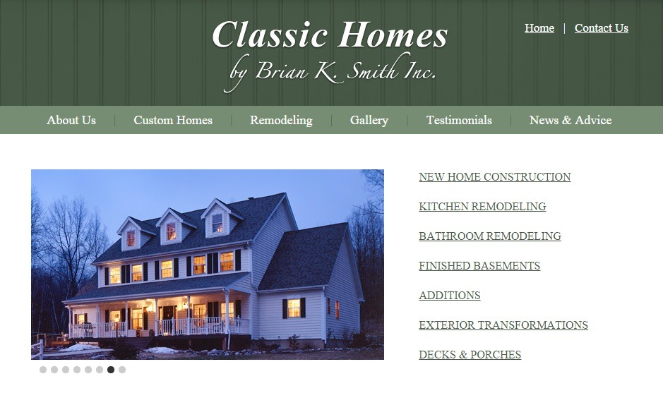 classic homes by Brian K Smith saratoga springs builder