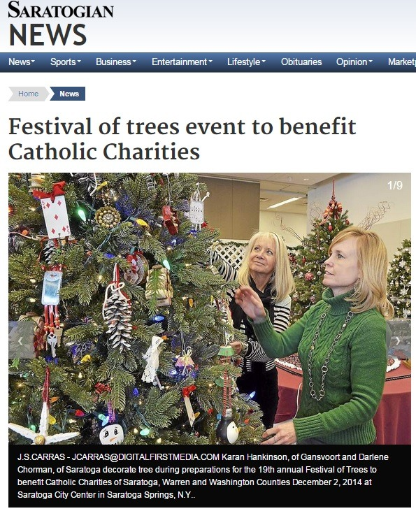 The Saratogian features Roohan Realty at Festival of Trees 2014