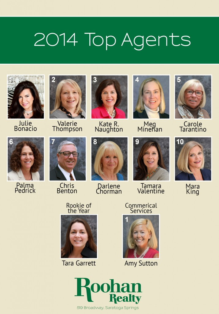 Roohan Realty's top agents of 2014