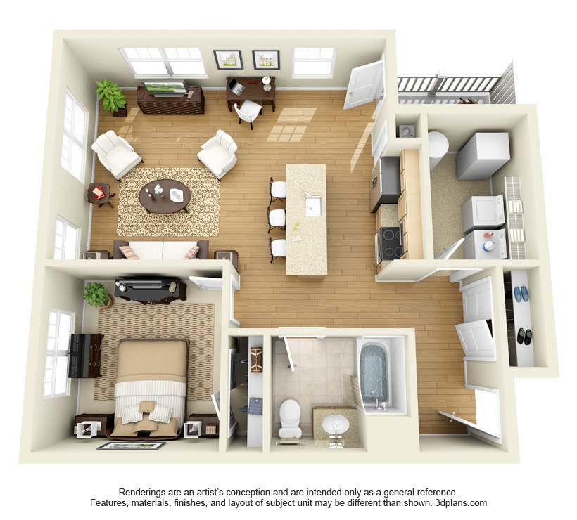 modern one bedroom apartment design the springs apartments roohan realty 19274