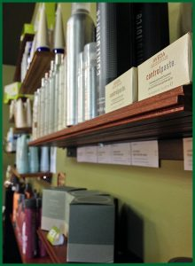 Circle of Friends Beauty Centre has a retail selection of organic Aveda, Surface, and Goldwell products.