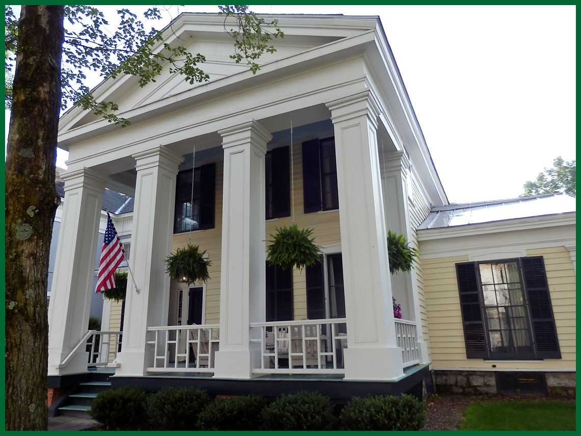 Exterior of 129 Circular Street in Saratoga Springs home of Madame Eliza Jumel