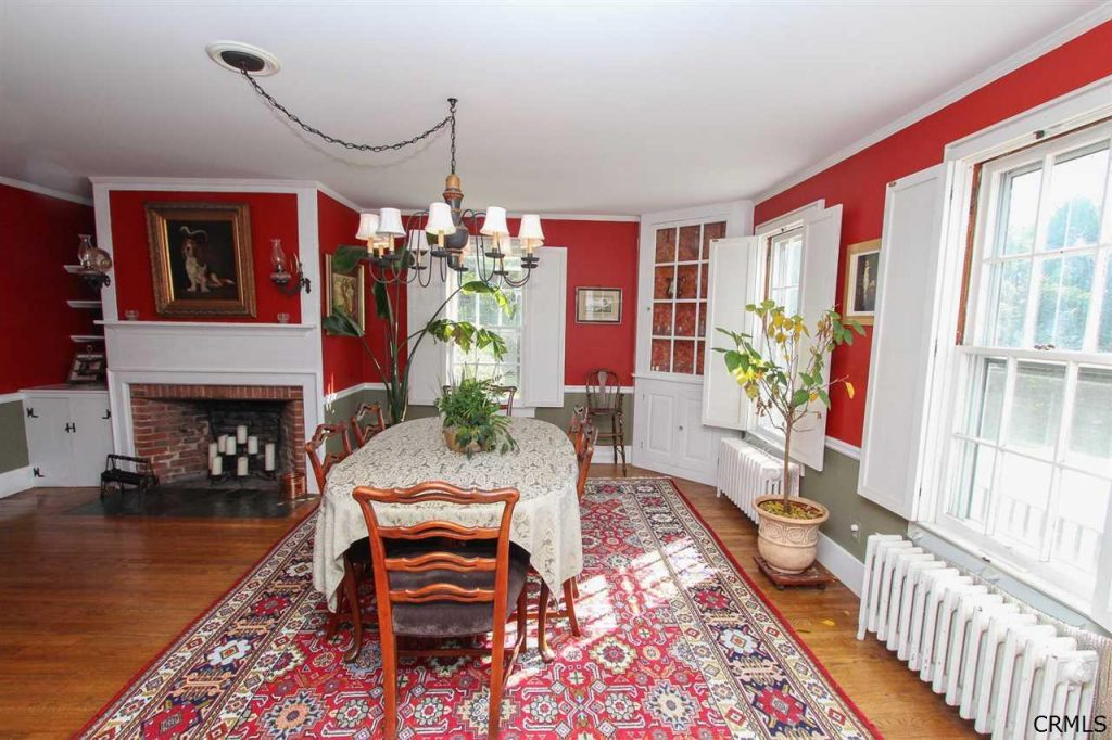 Formal dining room of historic home 177 Parkhurst Road in Saratoga County NY
