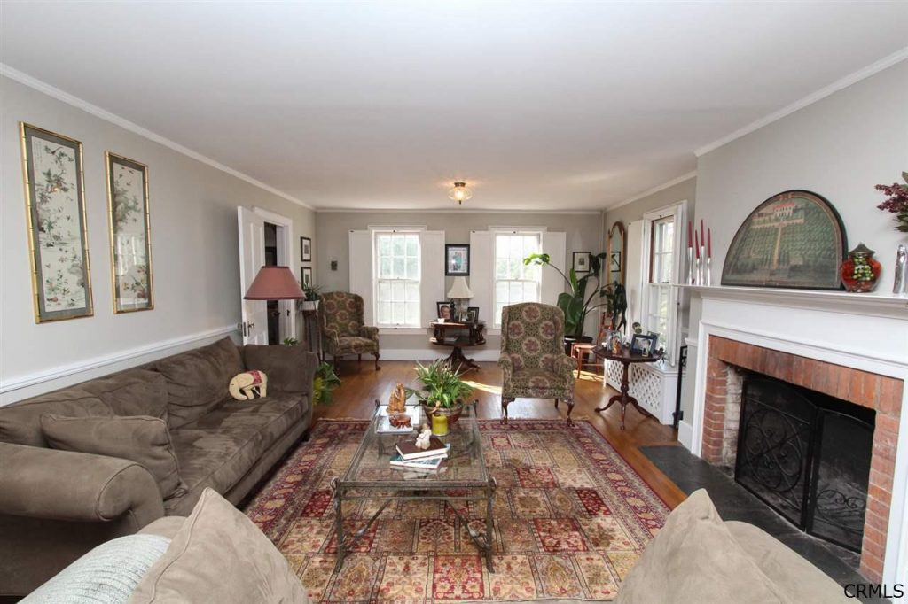 Living room oh historic home 177 Parkhurst Road in Saratoga County NY