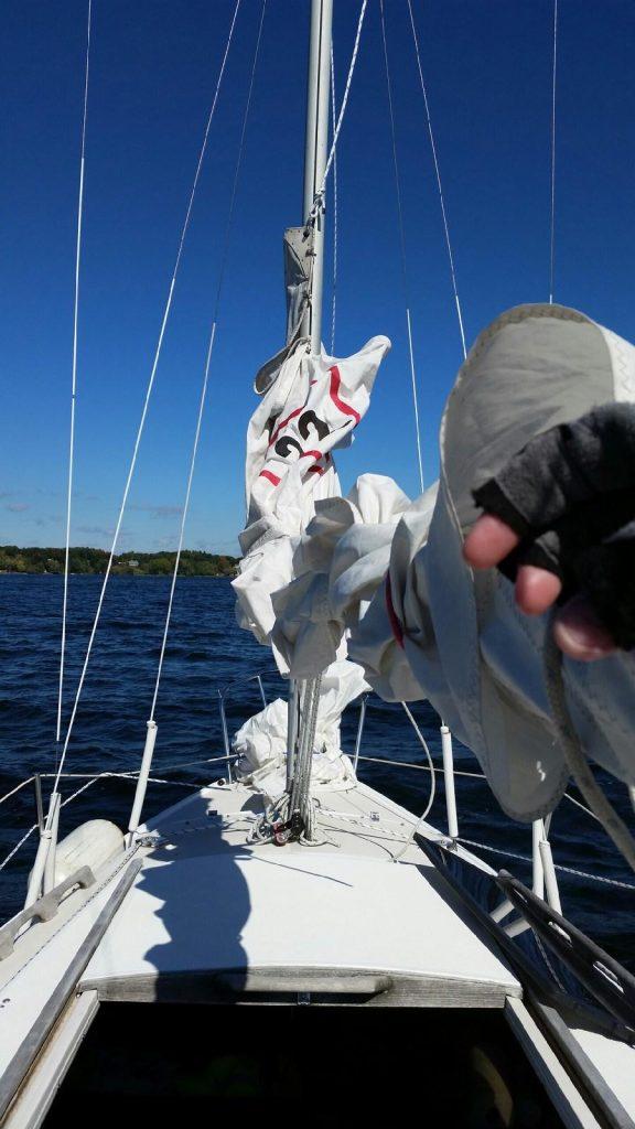 meg minehan sailing on saratoga lake