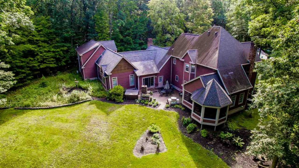 view the drone video for this Saratoga Springs, NY home for sale, shot by emmy award winning director, derek hallquist