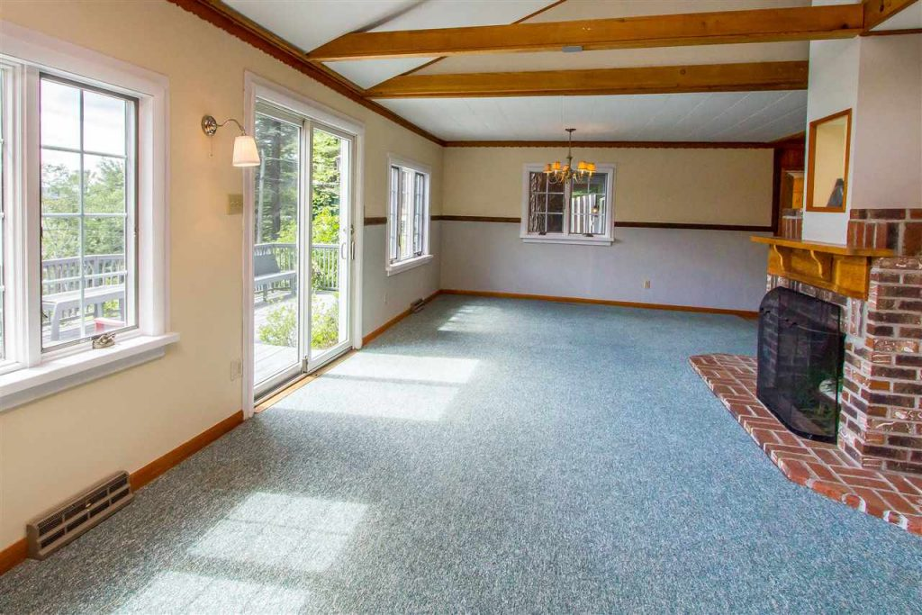 837-839 North Shore Road on Sacandaga Lake is a waterfront home with multiple decks