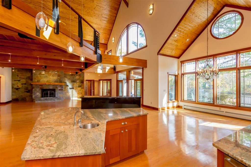 194 westside drive is a waterfront home on ballston lake with high ceilings, expansive windows and lots of natural light