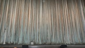 The curtain at SPAC before the New York City Ballet performance