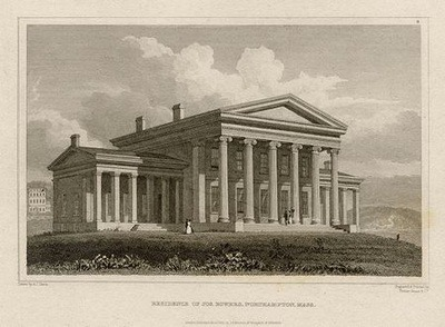 Bower house in Northampton, Massachusetts, considered one of the earliest Greek Revival houses in America