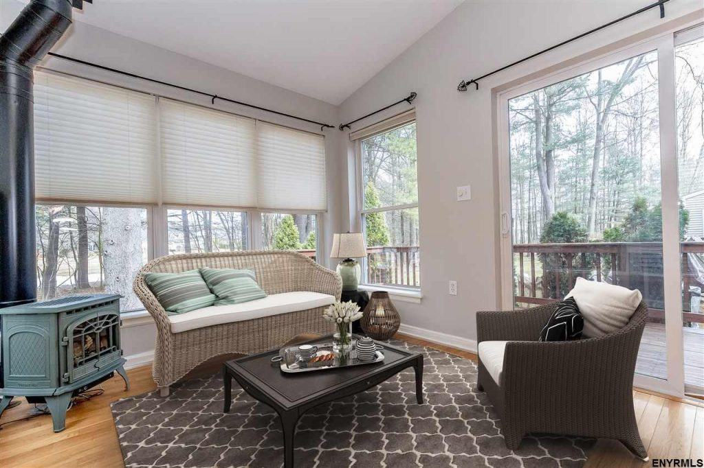 Wonderful sunroom addition adds 200 sqft of extra living space on the first floor