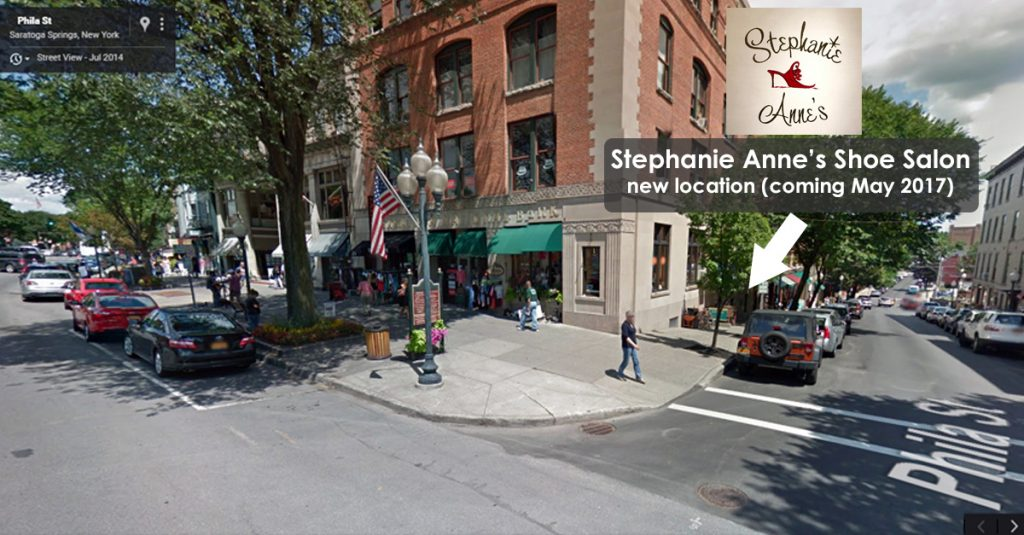 stephanie annes shoe salon will reopen at new location at 1 phila street in saratoga springs new york in may 2017