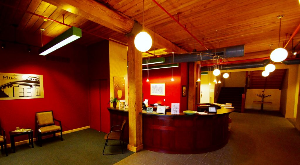 Reception area at 125 High Rock Avenue as it looks today