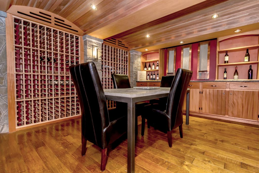 190 gailor road in wilton ny is a home for sale with a stunning mahogany and stone wine cellar