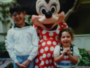 Blog author, Megan (right) and sister, Brittany (left) at Disney World circa 1989