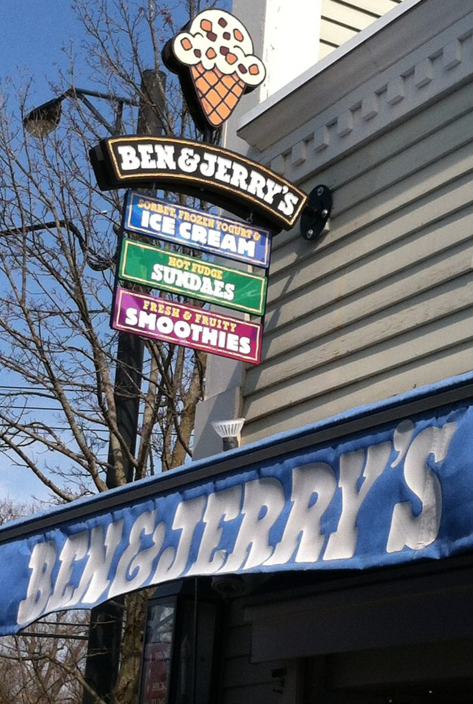 The Ben & Jerry's Scoop Shop at the Manchester Designer Outlets in Vermont