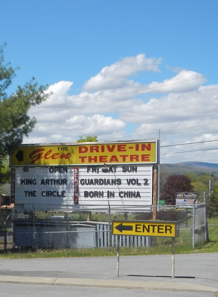 The Glen Drive-In Theatre on the way to Lake George provides old fashioned summer fun!