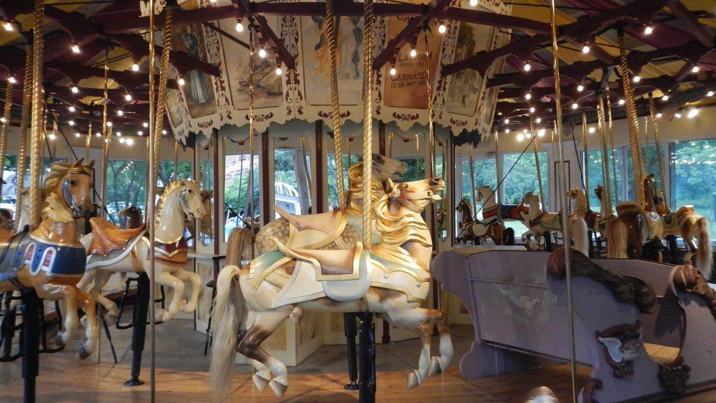 The carousel in Saratoga Springs, NY