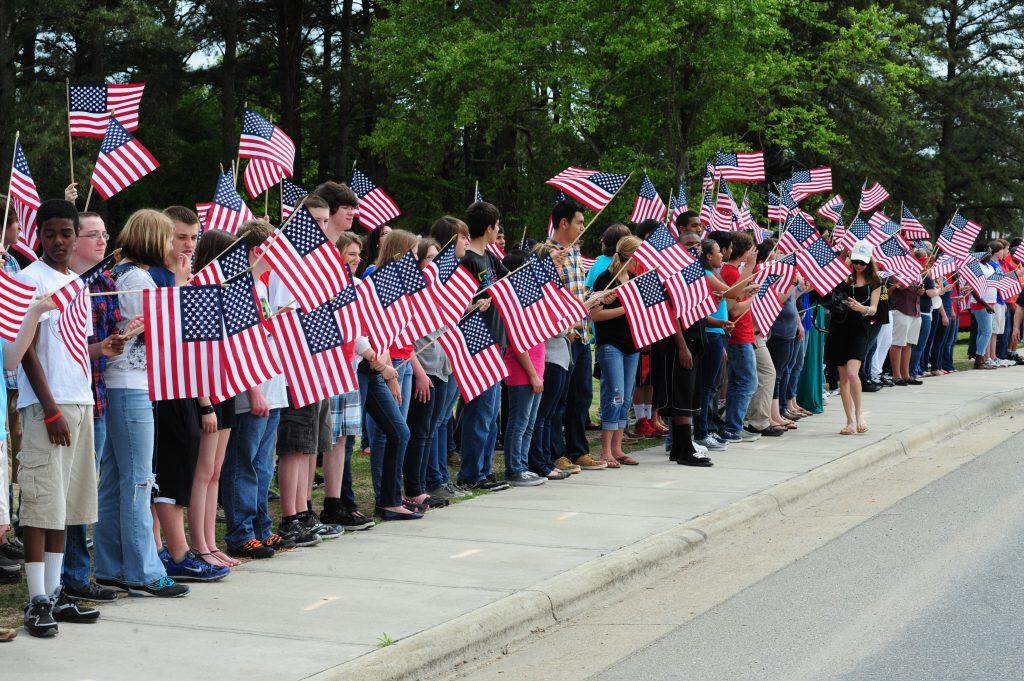 elks flag day parade saratoga ny 2017