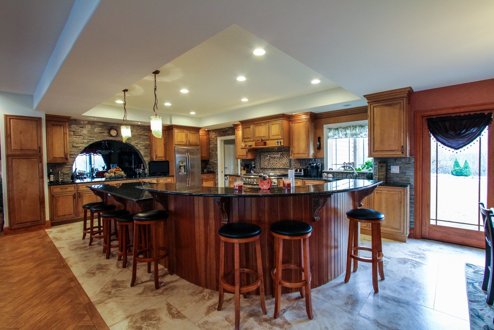 1128 Middleline Road in Milton, NY has a custom gourmet kitchen with granite counters and stainless steel appliances