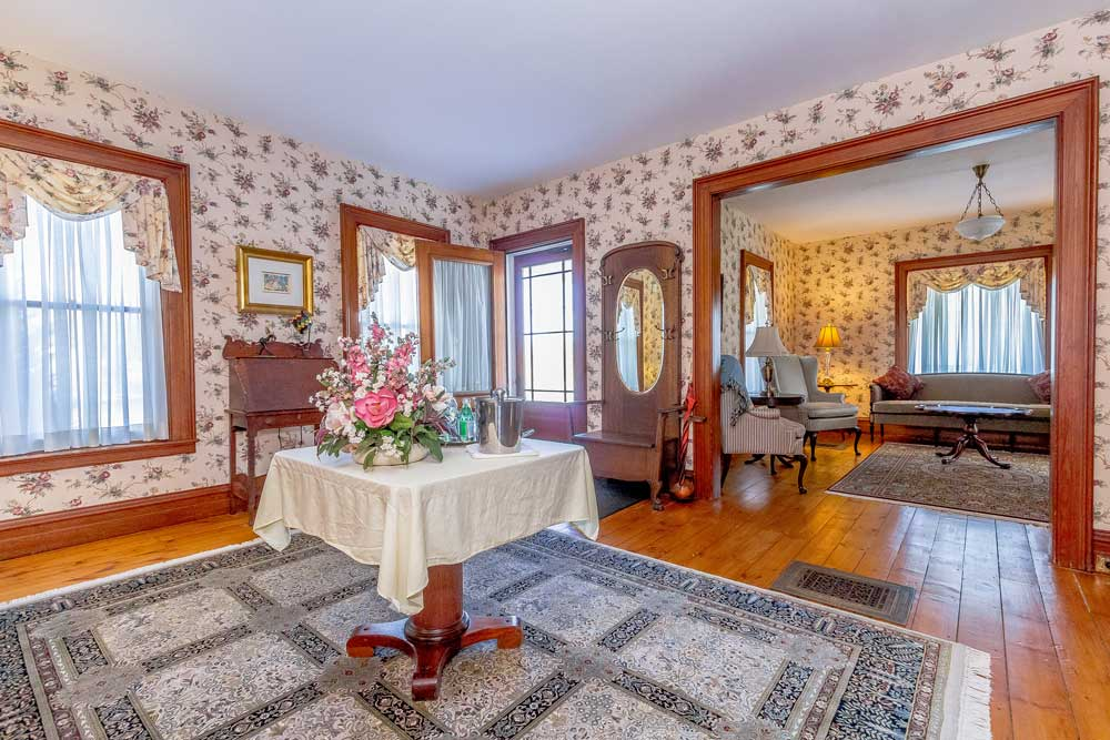 3 Perry Lane in Cambridge NY is a home for sale with hardwood floors and natural wood framing