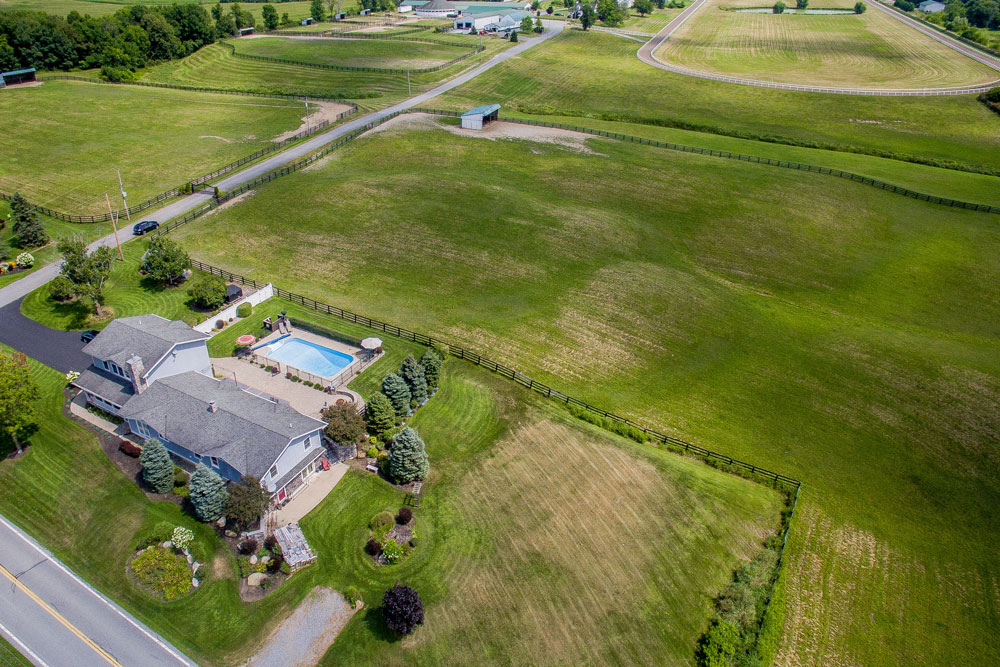 aerial view of 646 Stonebridge Road in northumberland ny