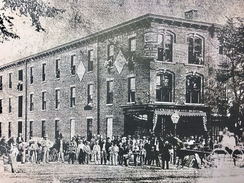 360 Broadway as it looked circa 1874, after the fire of 1865
