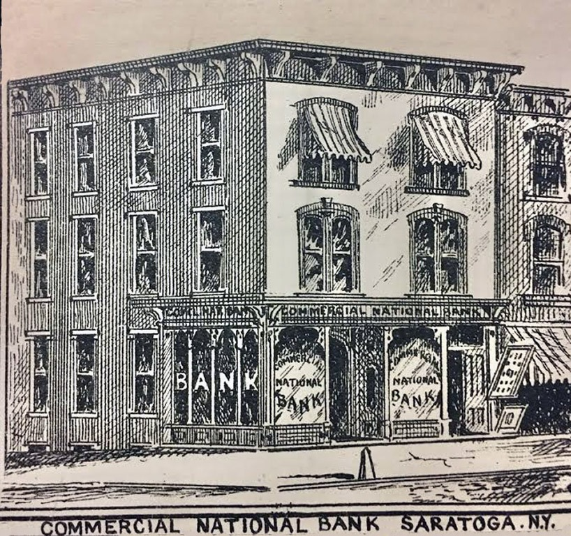 In 1879, the Commercial National Bank of Saratoga Springs opened at 360 Broadway