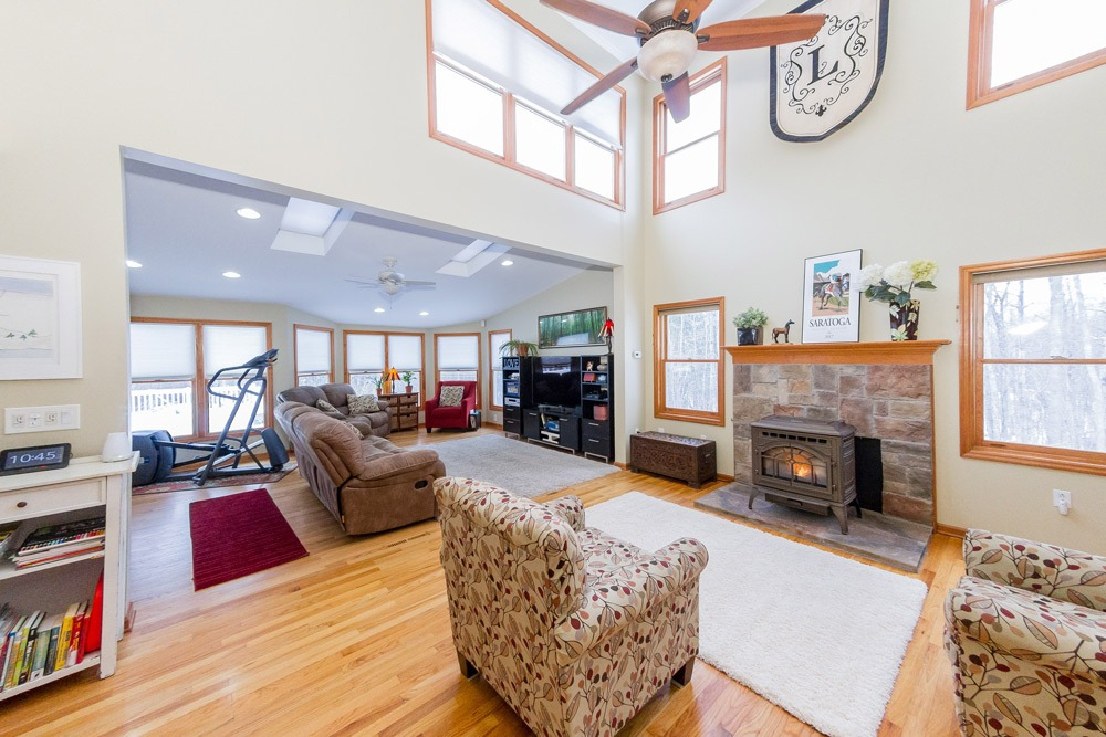 2203 rowley road in malta ny is a home for sale with high ceilings and an open floor plan