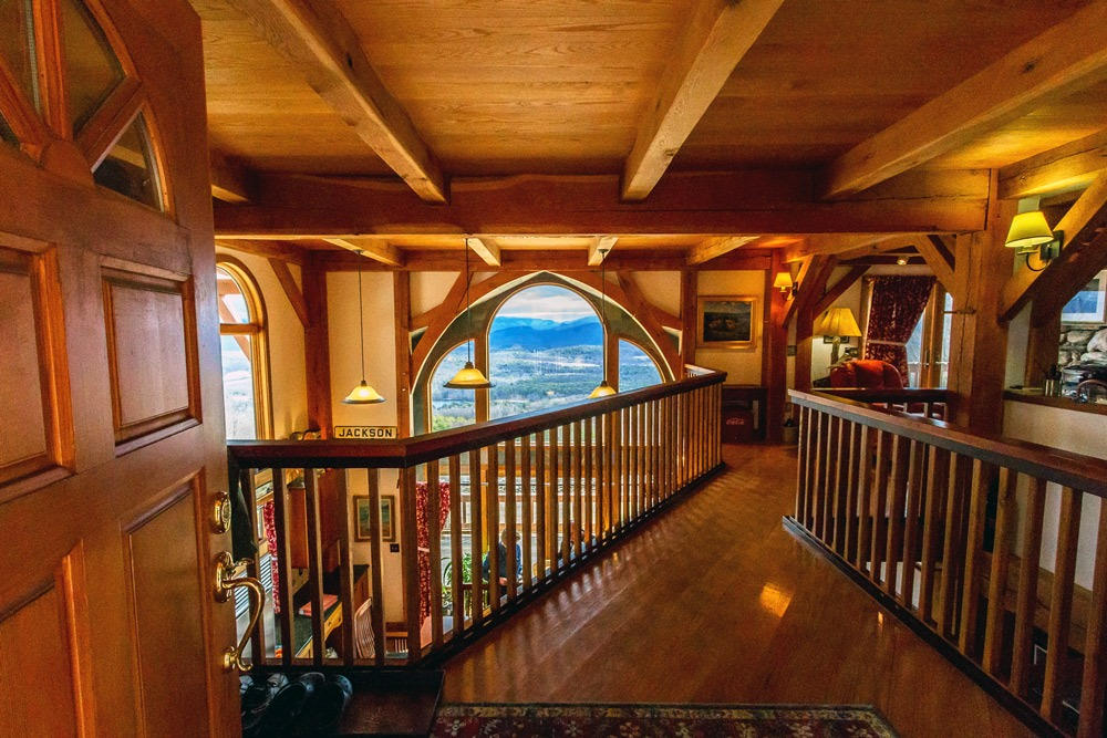 61 Fire Tower Road in Cambridge, New York is a custom beam and post construction with spectacular views