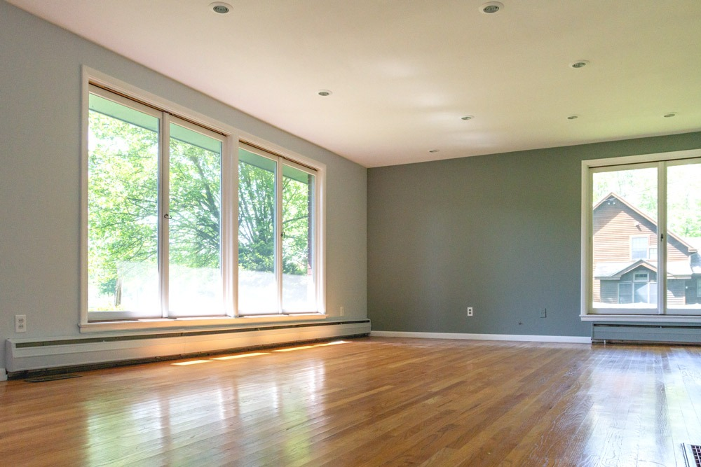 105 Hyde Boulevard is a home for sale Ballston Spa, NY with large windows that provide tons of natural light in the living room