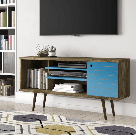 Lewis Midcentury Modern Style TV Stand