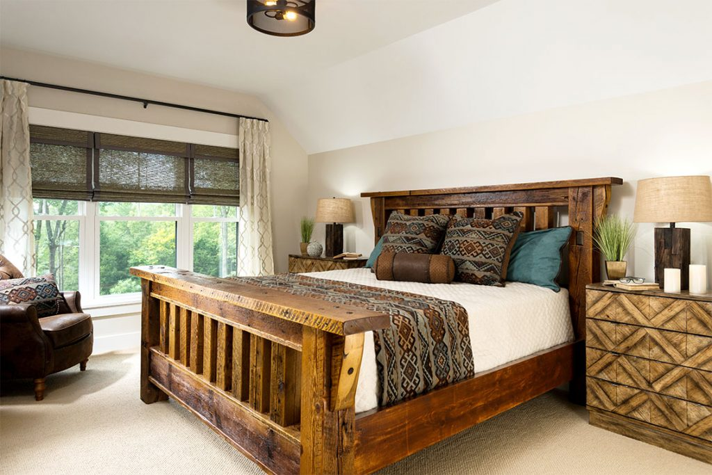 The master suite has a spacious walk-in closet, 8' double-sink vanity, 4' makeup vanity and ceramic tile walk-in shower