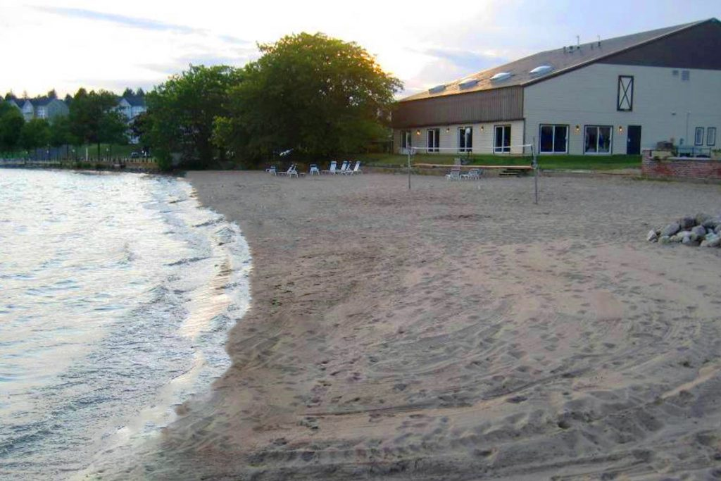 140 Kaydeross Park Road has access to private Saratoga Lake beach onsite