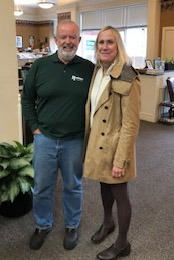 Tom Roohan and Meg Minehan celebrate Meg's 25th anniversary at Roohan Realty (November 2018)