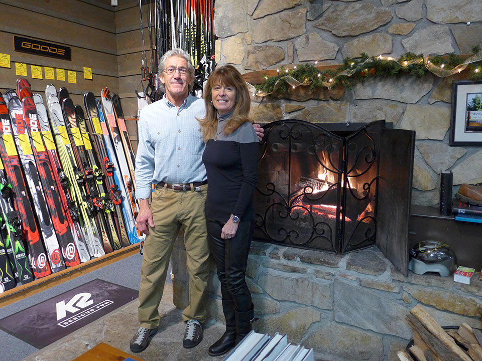 Jack and Cathy Hay, owners of the Alpine Sport Shop