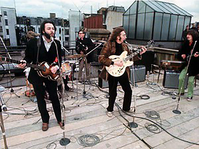 the beatles 1969 rooftop concert london