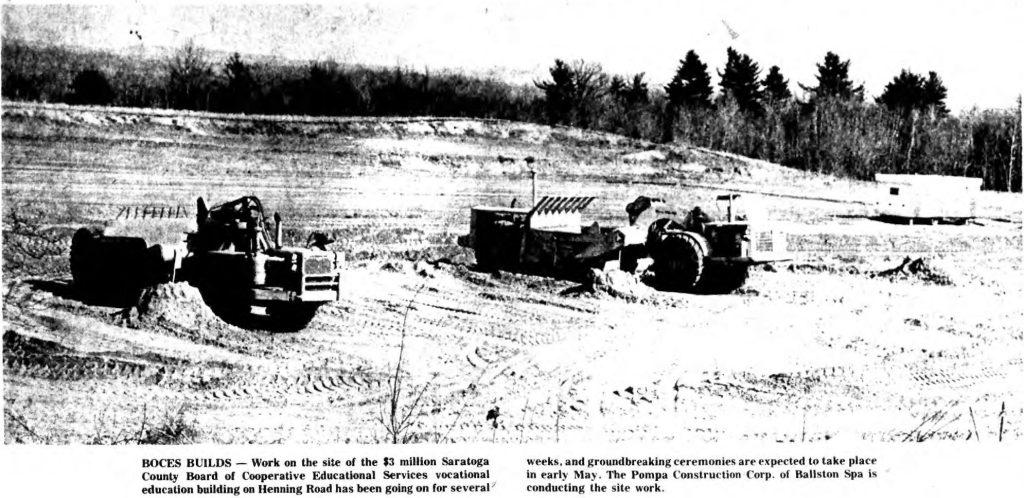 Boces Henning Road Saratoga Springs NY 1969 construction photo
