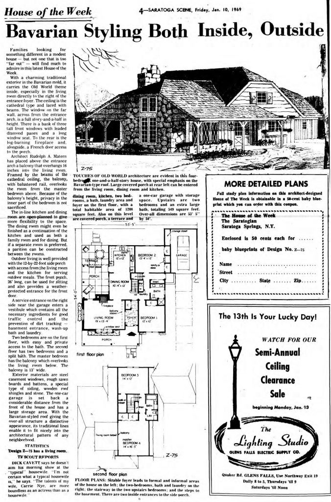 january 10, 1969 house of the week