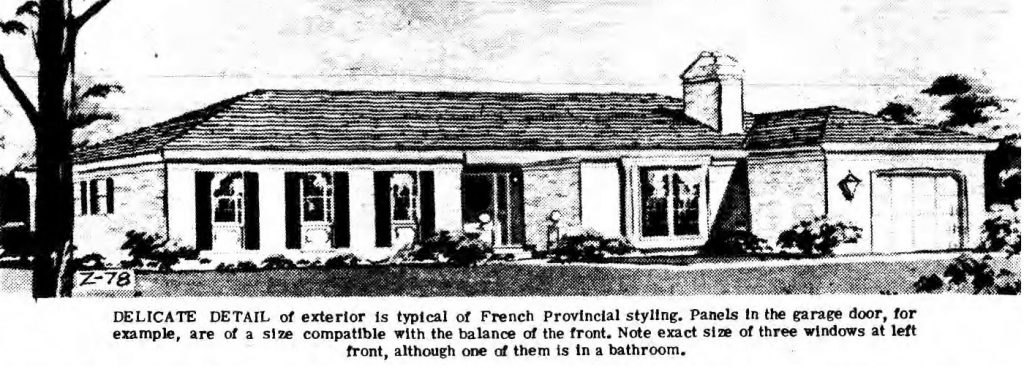 saratoga scene house of the week january 31 1969 a modified provincial ranch