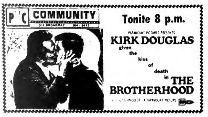 the brotherhood playing at saratoga springs community theater 1969