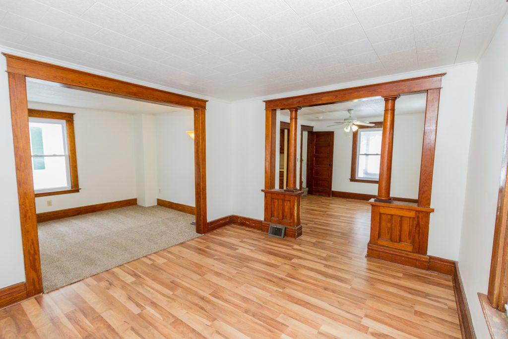 26 Coleman Avenue Hudson Falls NY - the first floor living, family, and formal dining rooms are all connected