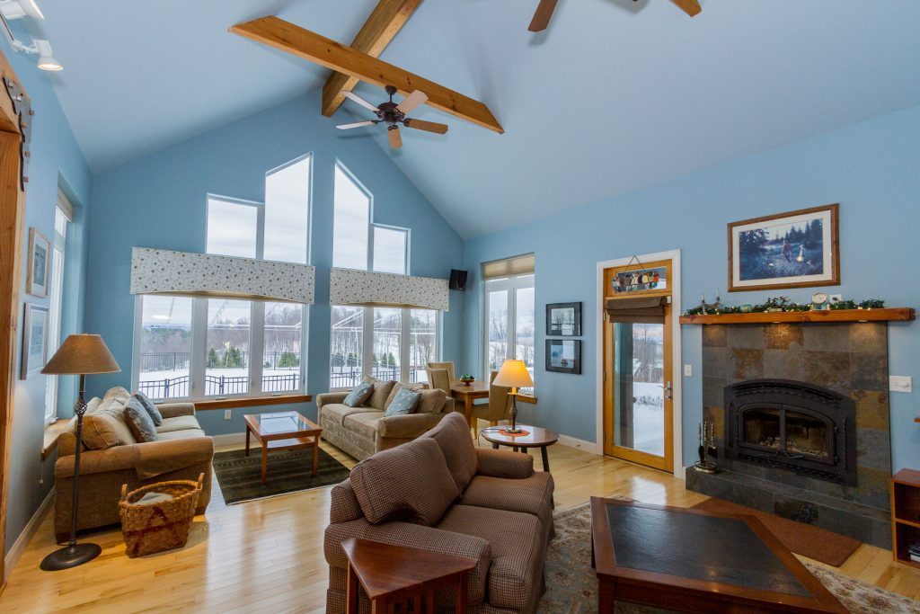 240 Casey Road Schaghticoke NY 12154 has a beautiful living room with vaulted ceilings.