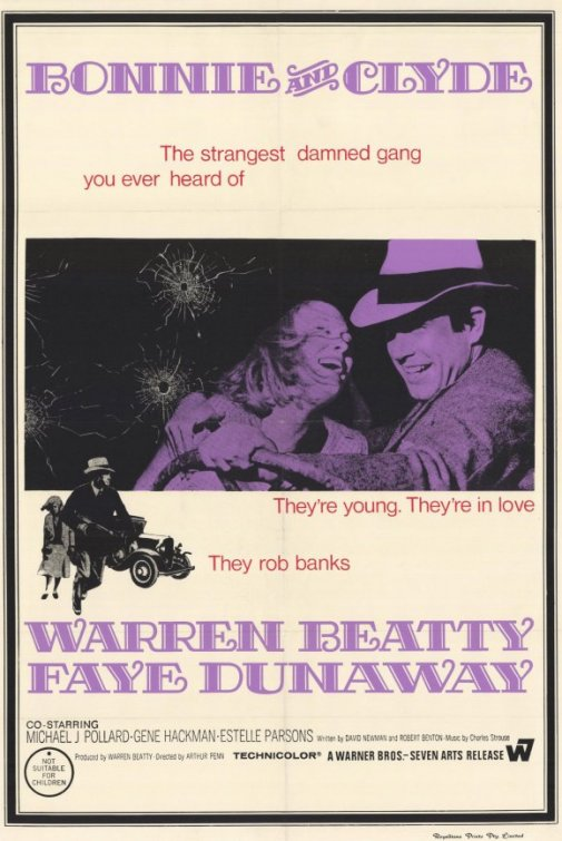 Bonnie and Clyde (1967) movie poster. Source: IMDB