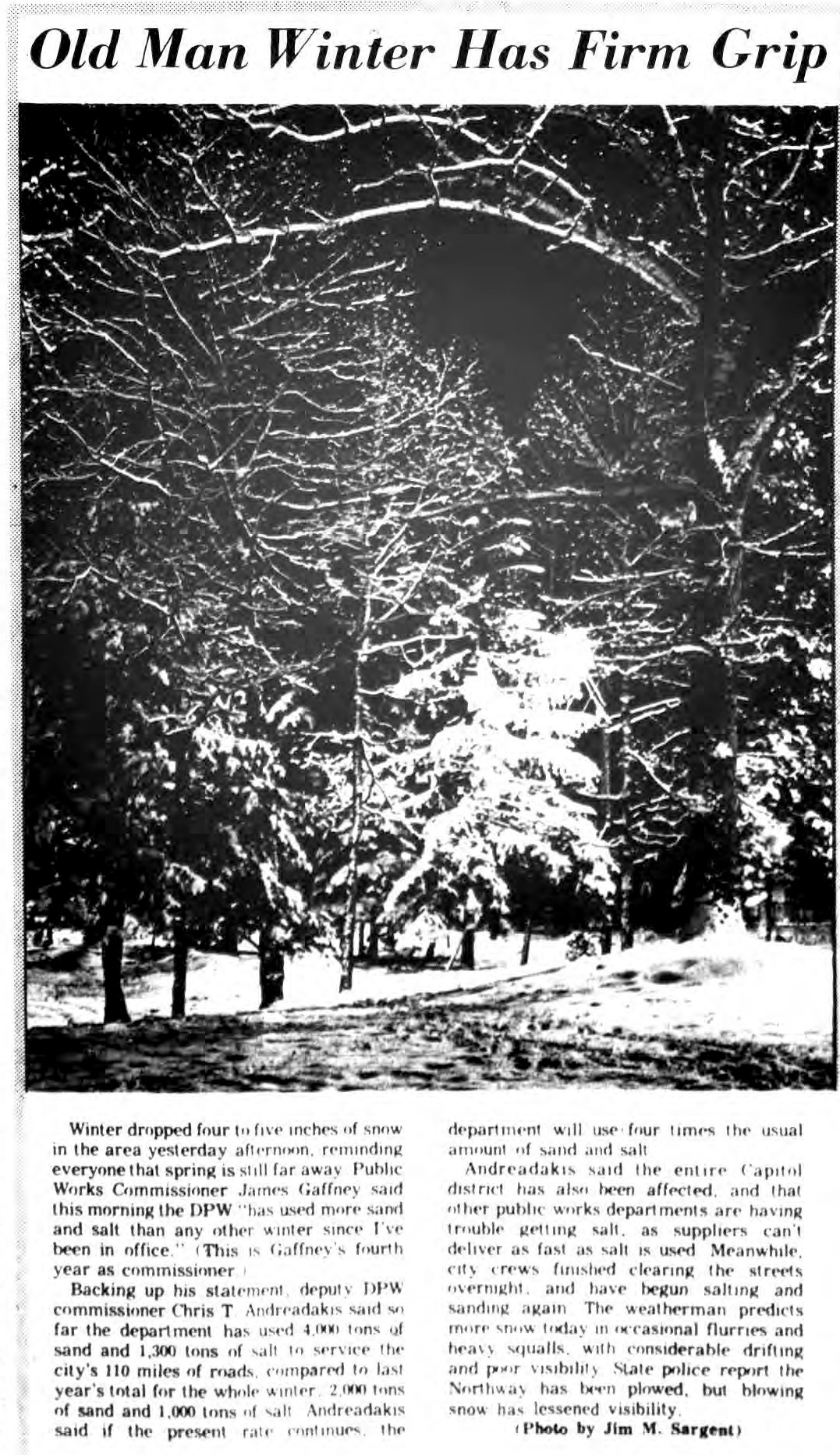 old man winter the saratogian 1969