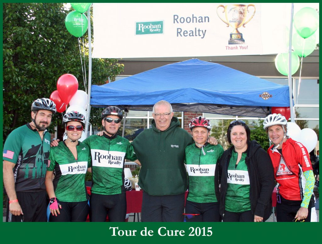Tom with Team Roohan Realty at the 2015 Tour de Cure